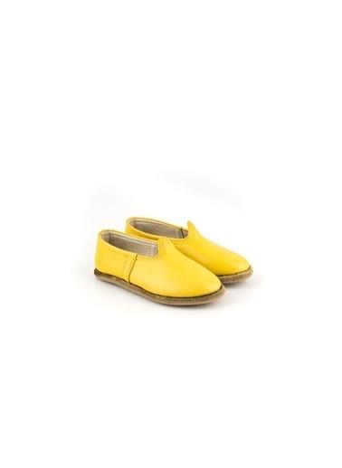 Aintap %100 Hakiki Deri Çocuk Ayakkabı Sarı Gaziantep Yemeni Sarı